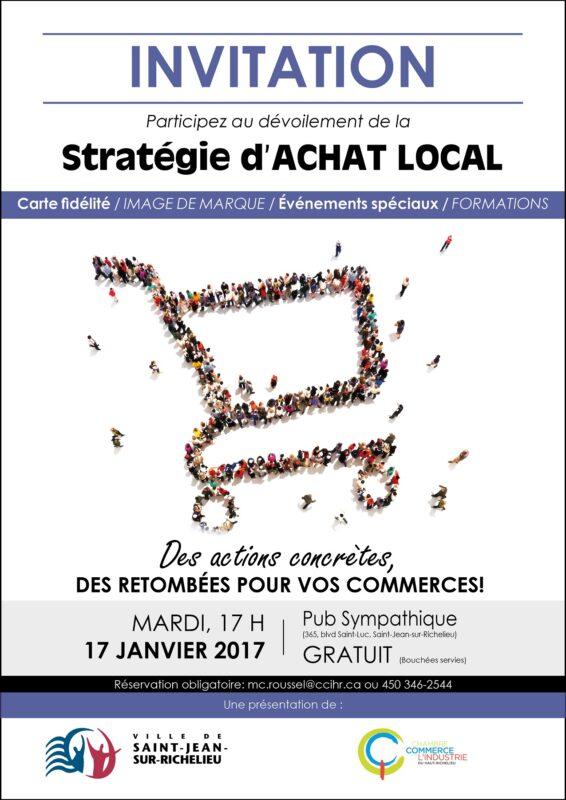 Lancement de la strat gie d achat local complet for Chambre de commerce du haut richelieu