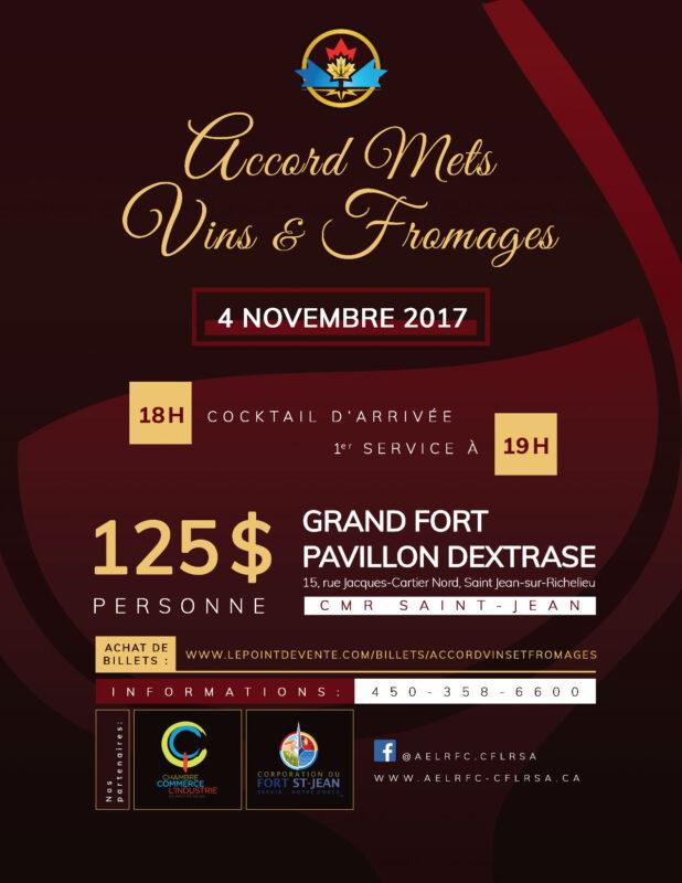 Accord mets vins et fromages le 4 novembre prochain for Chambre de commerce du haut richelieu
