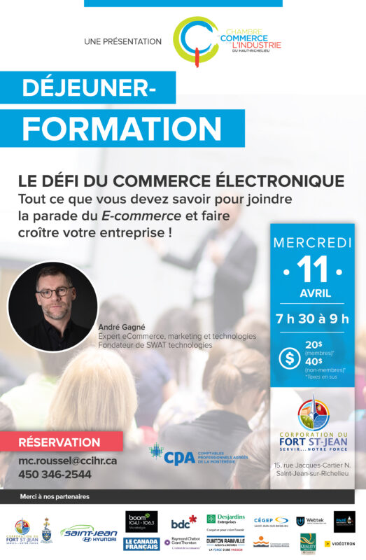 D jeuner formation le d fi du commerce lectronique for Chambre de commerce du haut richelieu